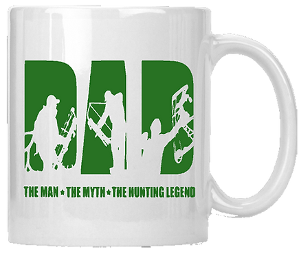 Dad the Man The Myth The Hunting Legend Coffee Mug