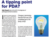 PDA Diagnosis at a Tipping Point