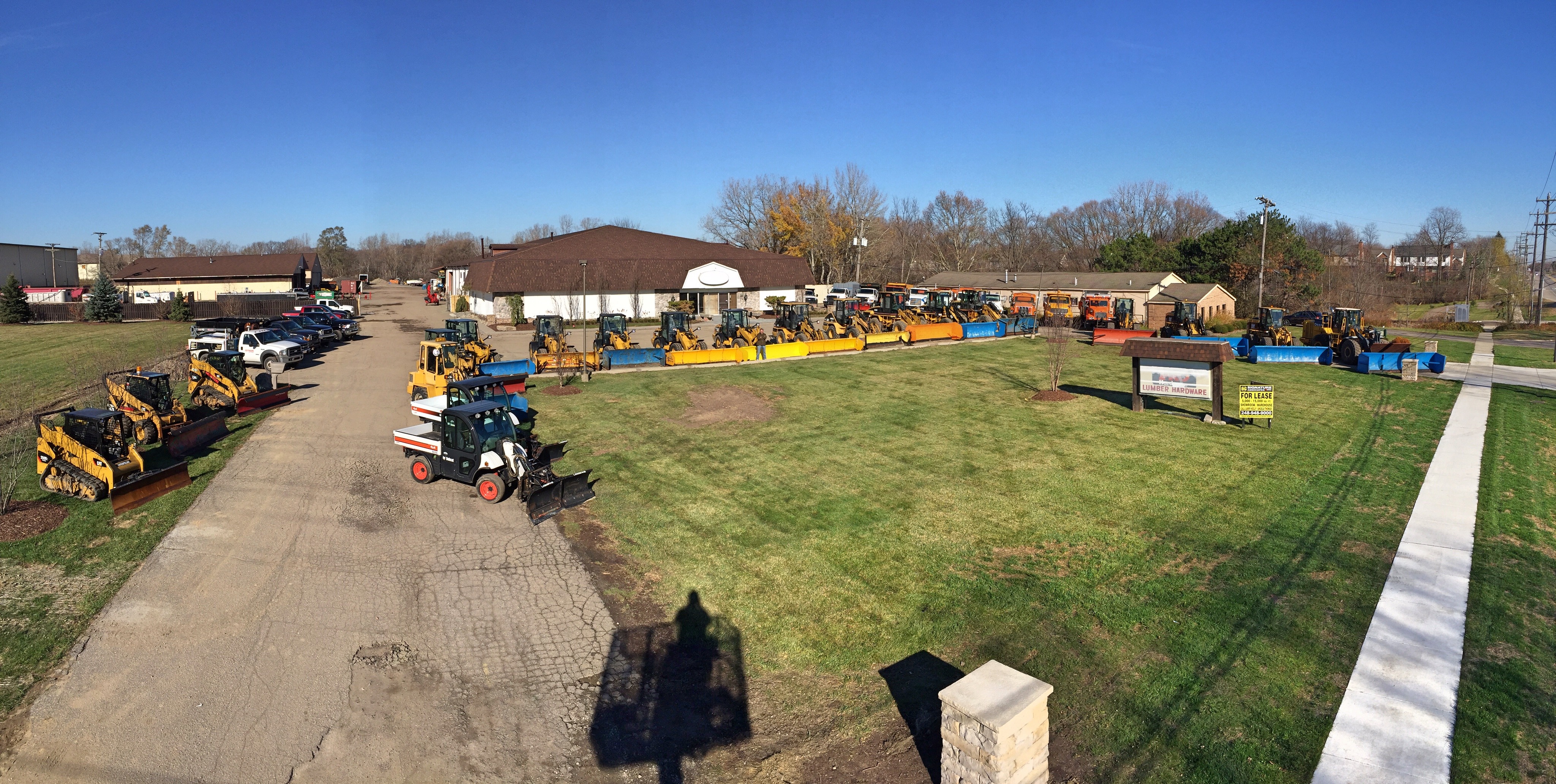 snow plows - tractors