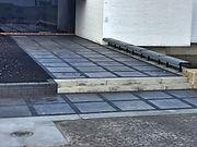 black and grey stone entrance