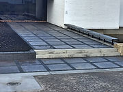 black and grey stone walkway