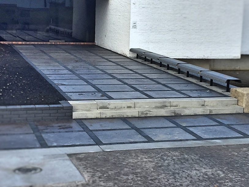 black and grey stone walkway
