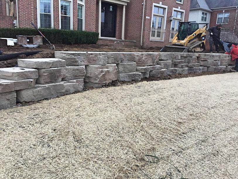 Sod - retaining wall