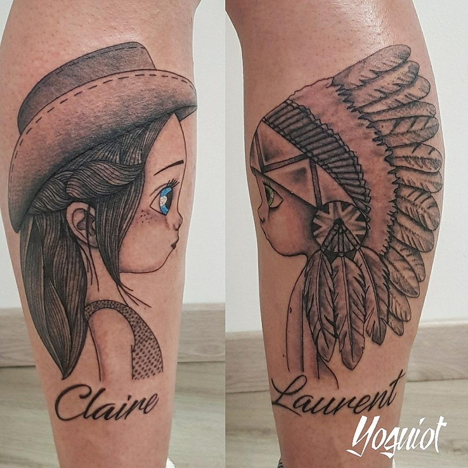 quadrilatera tattoo indienne et shérif s
