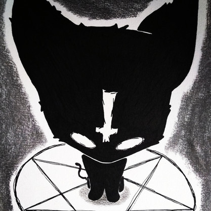quadrilatera drawing black cat by sora's crown