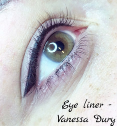 eye liner , make up, vanessa dury , beauty derm