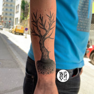 tatouage arbre, bens tattooer