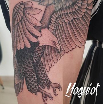 tatouage aigle, tatouage homme, tatouage bras,yoguiot