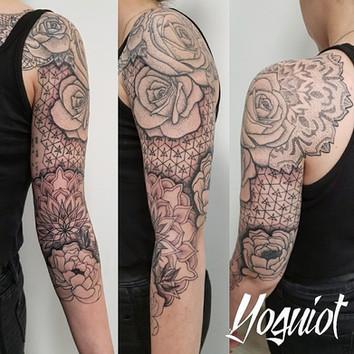 tatoueur Yoguiot, tatouage graphique, tatouage geometrique, tatouage parterns