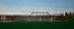 Amtrak Crossing River Heading Towards Centerville