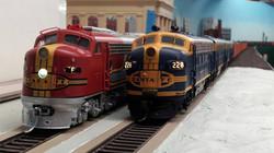 Santa Fe Passenger and Freight at Madison