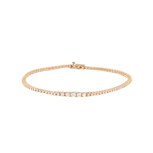 Graduated Diamond Tennis Bracelet