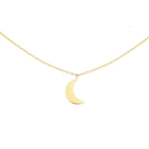 Crescent Moon Charm Choker