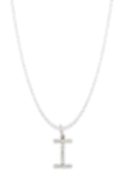 inital charm pedant necklace gold silver diamond