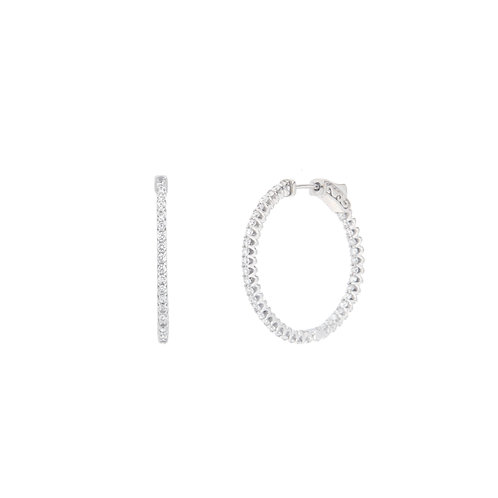In/Out Diamond Hoop Earrings