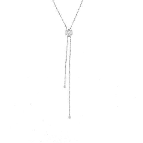 Diamond Zipper Bolo Necklace
