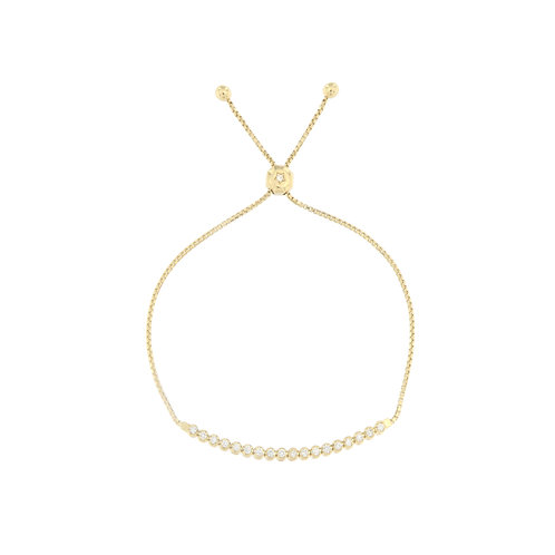 Diamond Line Bolo Bracelet