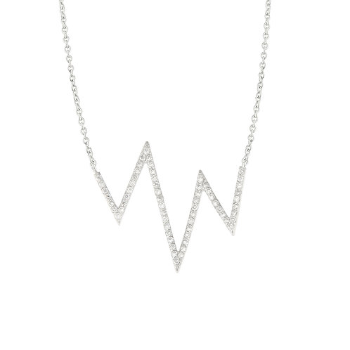 Diamond Zig Zag Necklace