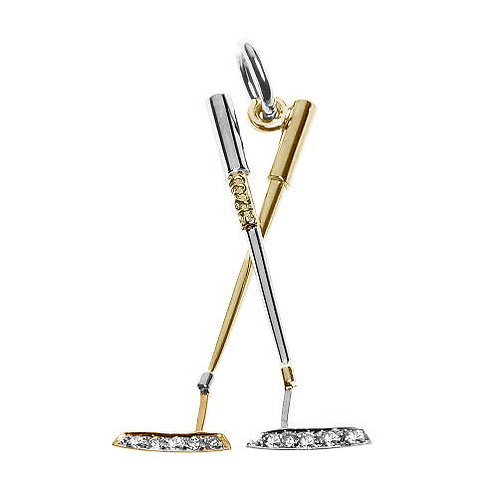 Double Diamond Putter Pendant