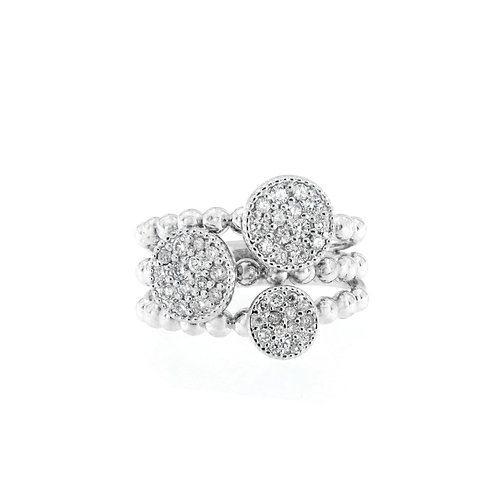 Diamond Tri-Circle Ring