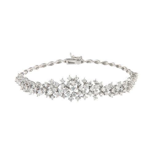 Diamond Snowflake Cluster Bracelet