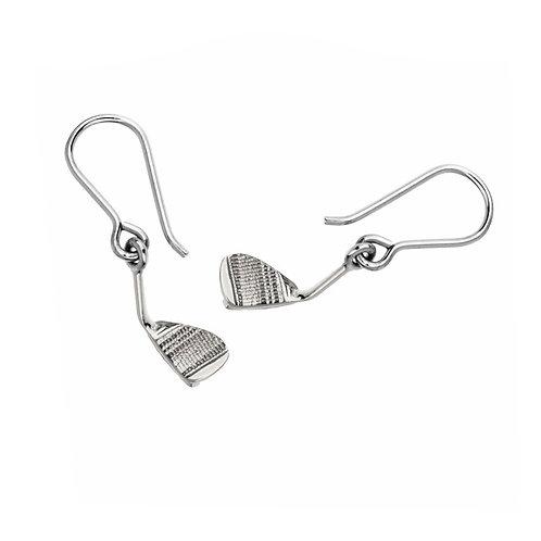Iron Wedge  Dangle Earrings
