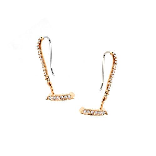 Diamond Putter Dangle Earrings