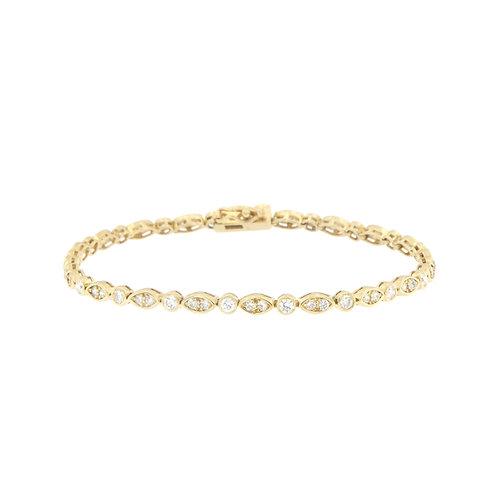 Diamond Bezel Bracelet