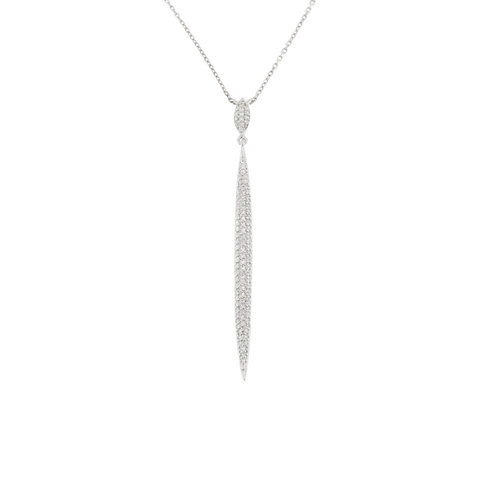Long Diamond Spike Pendant