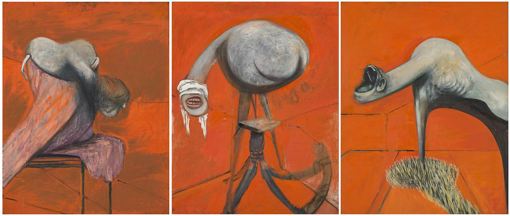 Francis Bacon Studies Figures Crucifixion Painting