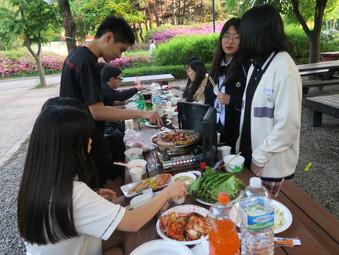 서울도시가스 한마음봉사단과 함께하는 삼겹살파티