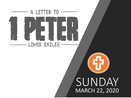 SUNDAY MESSAGE | MARCH 22, 2020