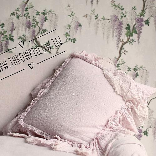 Blush Pink Whimsical Cushion Cover