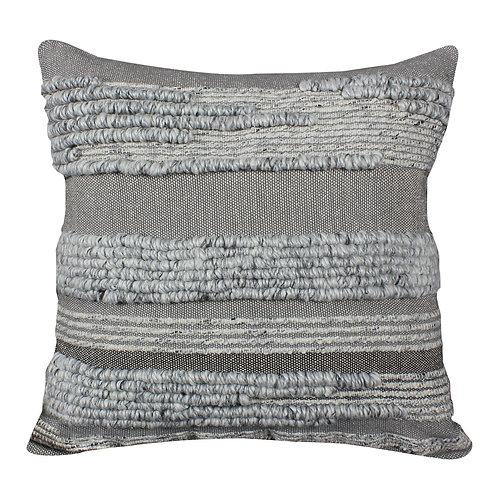 Grey Textured Throwpillow