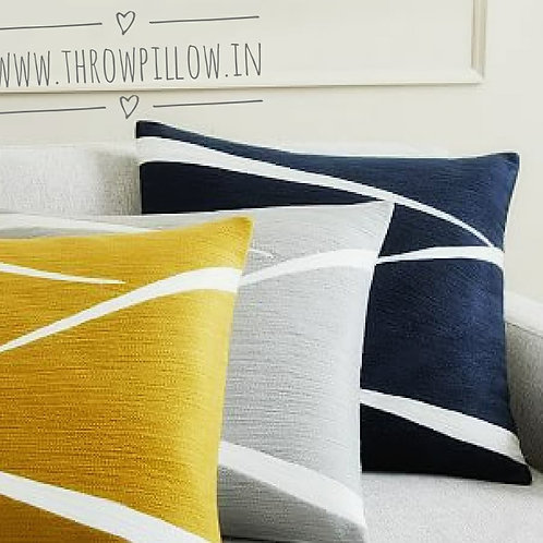 Crewel Embroidered Cushions- Navy Blue