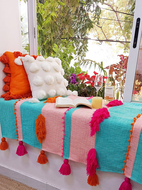 Boho Tuft Savannah Throw for L-Shaped couch