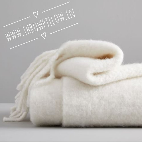 Solid Soft Mohair Throw