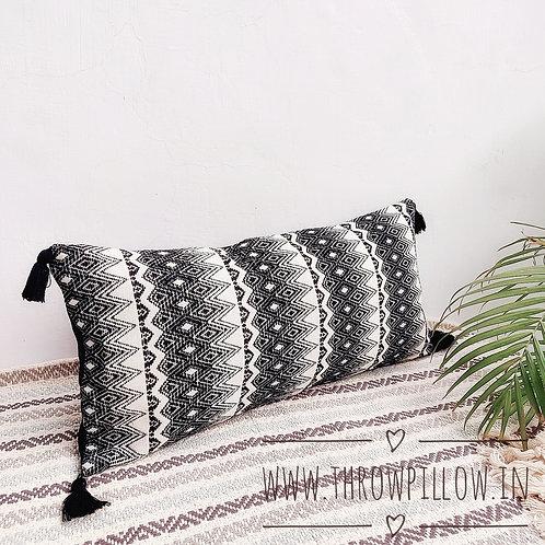 Black & White Nadia Rectangular Cushion