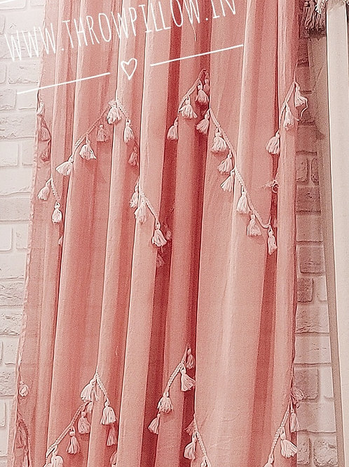 Tassel Curtains Door Size