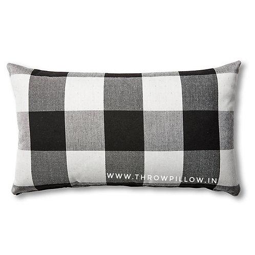 Gingham Check Rectangular Cushion Cover