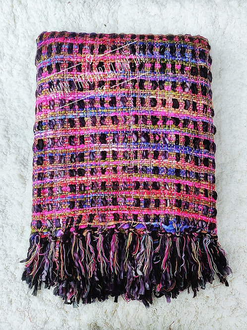 Multicolored Knit Throw