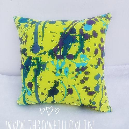 Abstract Acrylic Cushion Cover