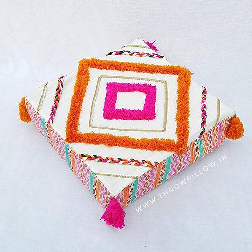 Diamond Tuft Weave Boho Floor Cushion Cover