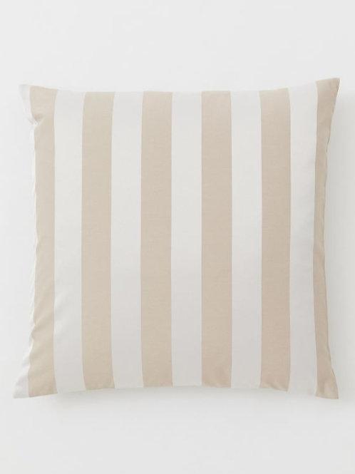 Luxe Beige Cream Stripes Cushion Cover