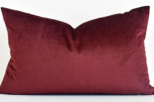 Maroon Rectangular Cushion Cover