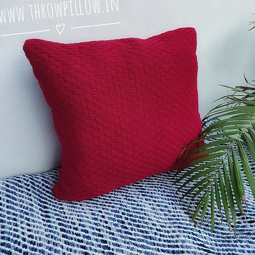 Red Knitted Cushion Cover
