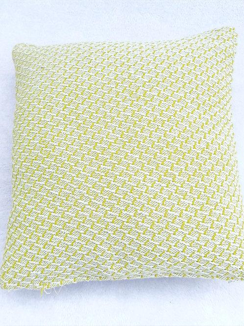 Green White Textured Cushion Cover