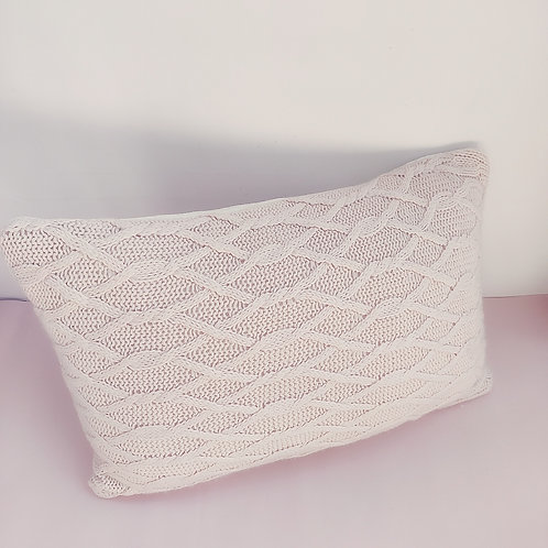 Blush Pattern Knit Rectangular Cushion