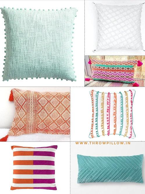 Colour Me Cushion Set-  7 Cushions