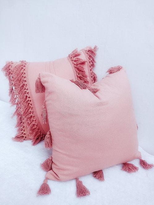 Blush Tassel Cushion Cover